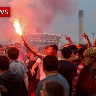 اخبار Sky News با زیرنویس - جشن هواداران لیورپول پس از قهرمانی